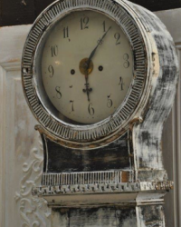 19th century painted Swedish Mora clock