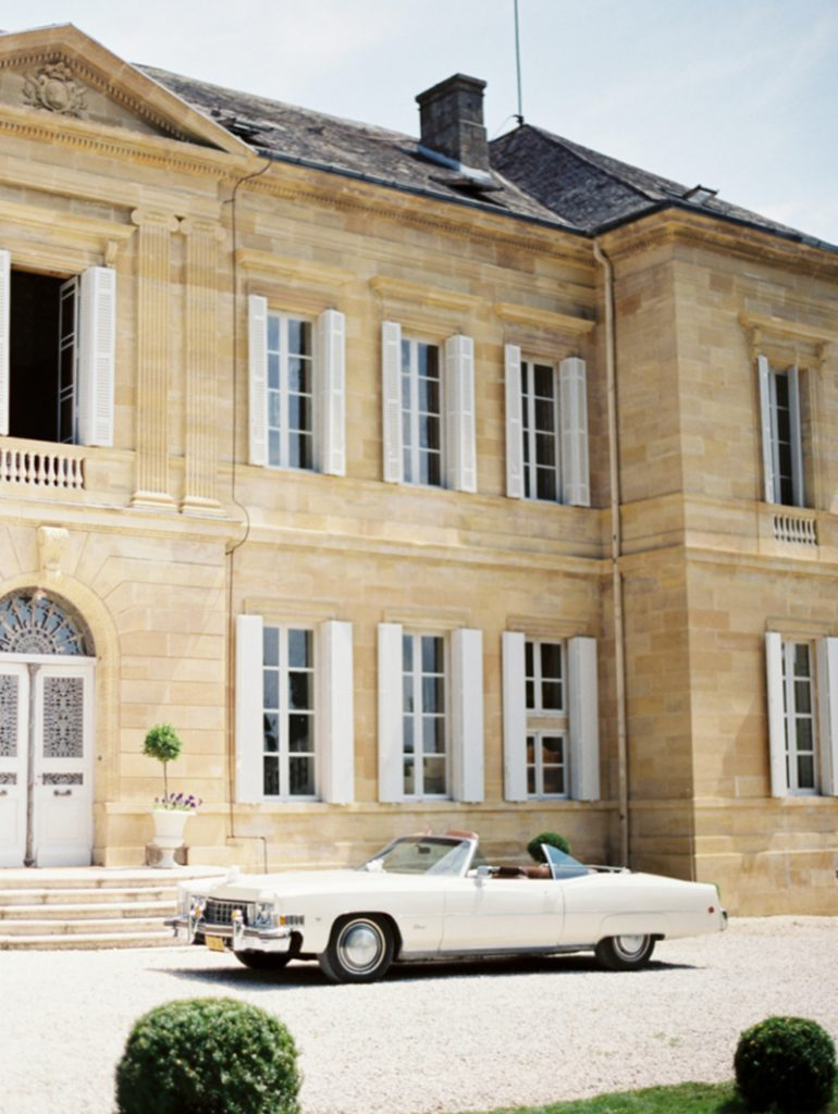 chateau-la-durantie-exterior-with-vintage-car