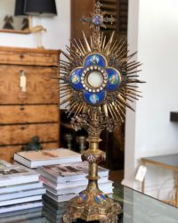Late 19thC French Silver Gilt Radiate-Monstrance